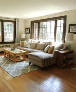 Living Room Dark Window Trim