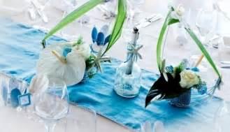 deco mariage bleu turquoise et blanc le mariage