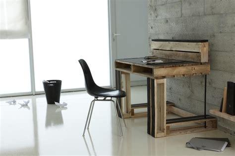 bureau palette bois meubles en palettes de bois idées déco et design