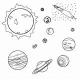 Solar Coloring Planets System Clipart Space Meteor Planet Comet Earth Genesis Printable Colouring Clip Alamo Outer Drawings Universe Sheets Void sketch template