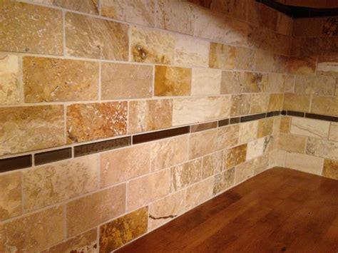 travertine tile backsplash  cabinet girls