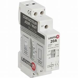 Disjoncteur Pour Vmc : contacteur jour nuit lexman 230 v 20 a leroy merlin ~ Premium-room.com Idées de Décoration