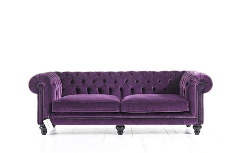 Velvet Purple Sofa by Purple Velvet Chesterfield Sofa
