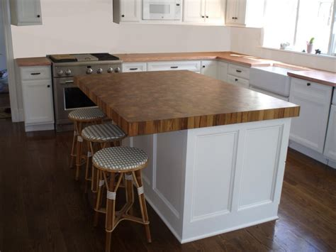 wood kitchen island top end grain wood countertops by custom