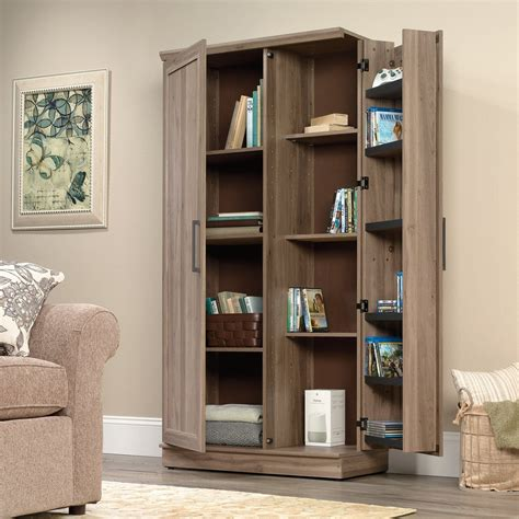 sauder homeplus pantry storage cabinet salt oak shop