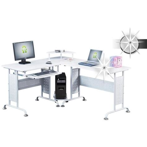 bureau informatique blanc bureau informatique blanc brillant myco00454 achat