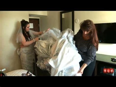 putting   gypsy wedding dress   hard  big