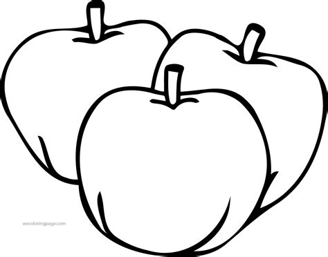 Apple Coloring Page Pages Fruit Sheets Grig3org