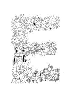 Image of Squidoodle's Book of Fancy Letters Colouring Book