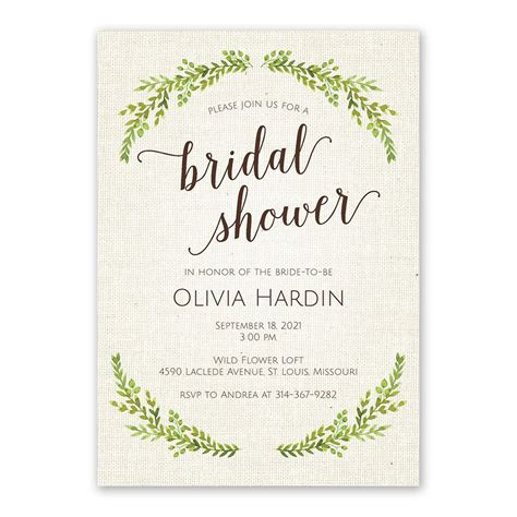 Bridal Shower Invitations - botanical bridal shower invitation invitations by