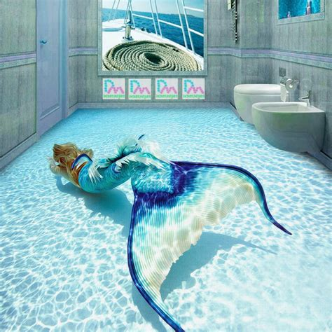entertainment room ideas 3d mermaid wallpaper photo wallpaper custom wall