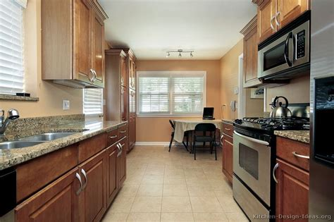 galley kitchen layouts ideas pictures of kitchens traditional medium wood cabinets brown page 2