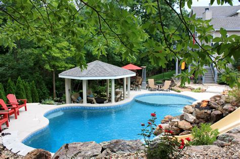 Sunset Hills Residential Swimming Pool & Spa In Saint