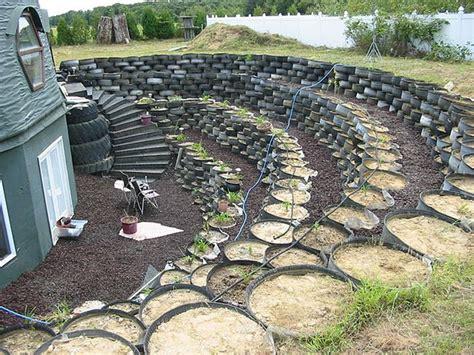 tire garden city backyard of island green dome has a tire