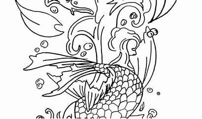 Koi Coloring Fish Pages Drawing Pencil Realistic
