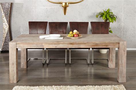 table de cuisine ronde avec rallonge table salle à manger teck massif