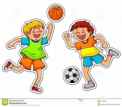 Clipart Games Outdoor Ball Pieces Playing Outside