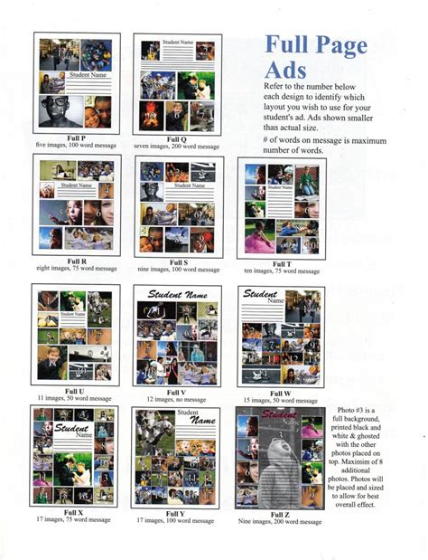 yearbook full page pda layout templates northview public schools