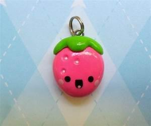 Kawaii Strawberry Charm Polymer Clay Cute Fruit Jewelry ...