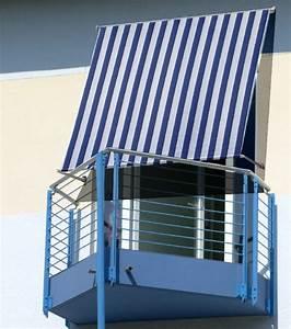 fallarmmarkise markise sonnenschutz balkon 150x200 blau With markise balkon mit tapete gestreift blau