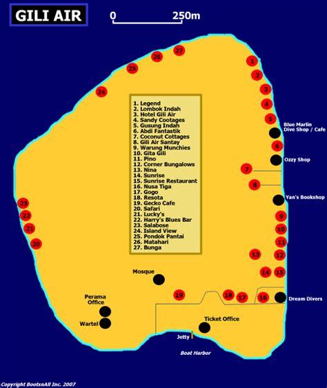 map  gili air bali blog