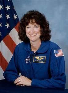 File:Laurel Clark, NASA photo portrait in blue suit.jpg ...