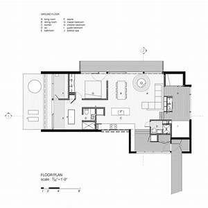 modern cottage floor plans With contemporary one bedroom cottage designs