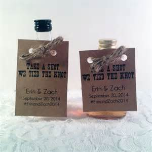 the knot wedding favors 50 mini bottle tags unique wedding favors wedding favors take a we the