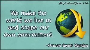 Environmental Q... Water Environment Quotes