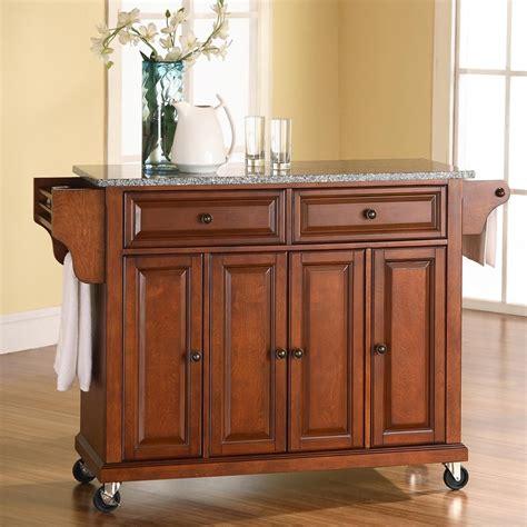 kitchen island furniture shop crosley furniture brown craftsman kitchen island at