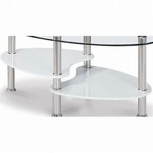 Table En Verre Pas Cher : table basse en verre tremp ovale opunake achat vente ~ Teatrodelosmanantiales.com Idées de Décoration