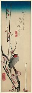 Utagawa Hiroshige: Red-cheeked Bird and Red Plum Blossoms ...