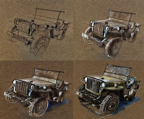 ww2 jeep drawing how to draw a 1943 willys jeep mb car drawing by daliana