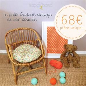 Petit Fauteuil Pour Enfant : happyhand le petit fauteuil vintage et son coussin ~ Teatrodelosmanantiales.com Idées de Décoration