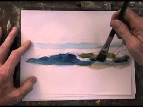 ocean wave beach draw sketch paint simple seacapes youtube