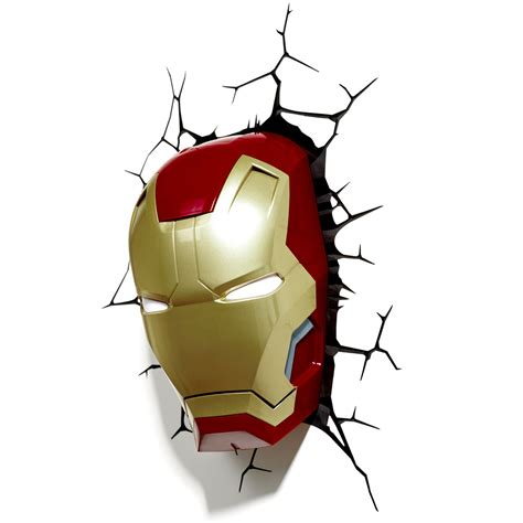 marvel avengers 3d wall light hulk iron man captain
