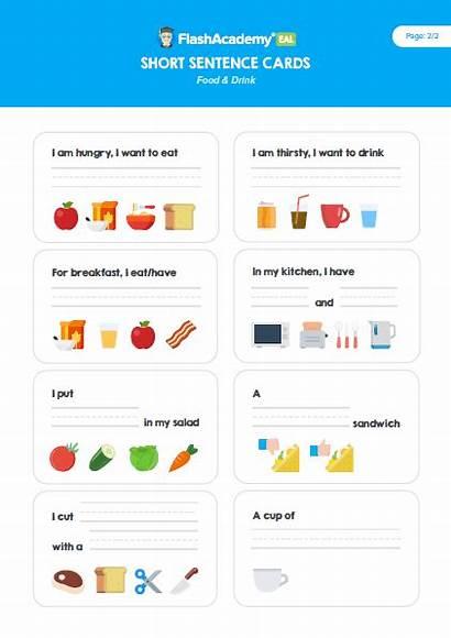 Sentence Short Writing Drink Flashacademy Resource