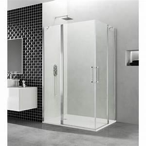 paroi de douche d39angle portes battantes helia h robinet With portes douche battantes