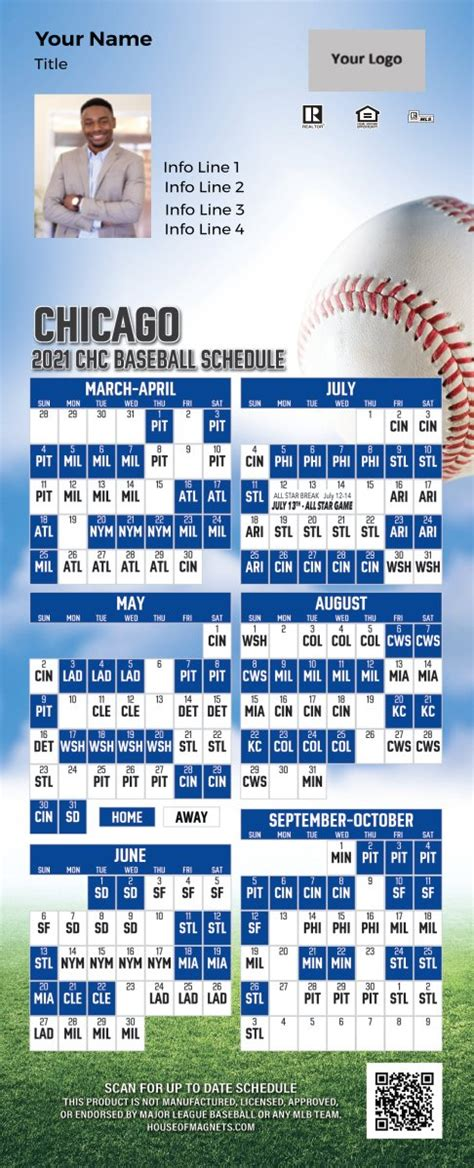 chicago cubs schedule magnets magnetic schedules