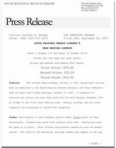 pr field qualities of a good press release With how to write a good press release template