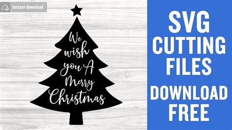 Download for the svg file. Christmas Tree SVG Free Cutting Files for Cricut Scan n ...