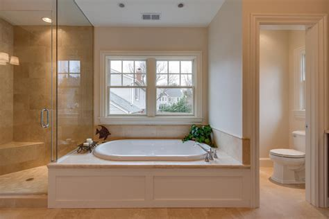 Master Bath with undermount tub and steam shower