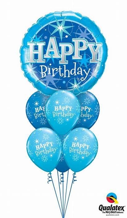 Birthday Happy Balloons Bouquet Balloon Sparkle Transparent