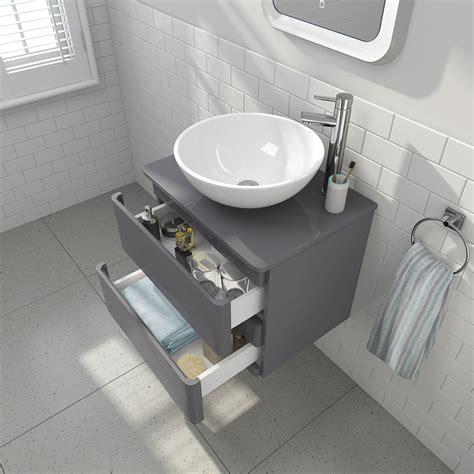 Bathroom Sink And Unit by Modern Wall Mounted Grey Bathroom Vanity Unit Countertop