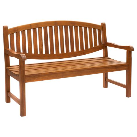 java the curved back outdoor bench seat is made from a