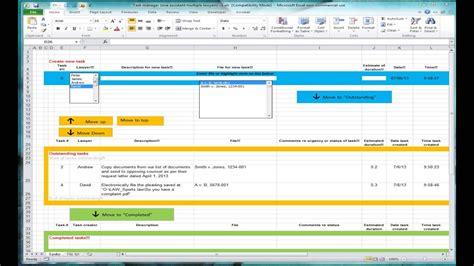 excel spreadsheet  tracking tasks shared workbook