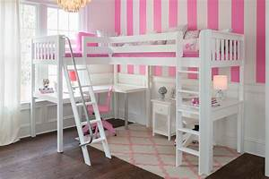 Corner, Loft, Bed, With, Desks, Perfect, Solution, For, Twins, Or, Siblings, Who, Both, Like, To, Sleep, On, Top