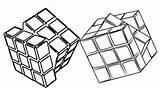 Cube Coloring Rubiks Template Rubik Minecraft 4x4 sketch template