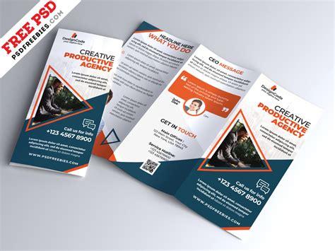 multipurpose tri fold brochure design psd  psd freebies