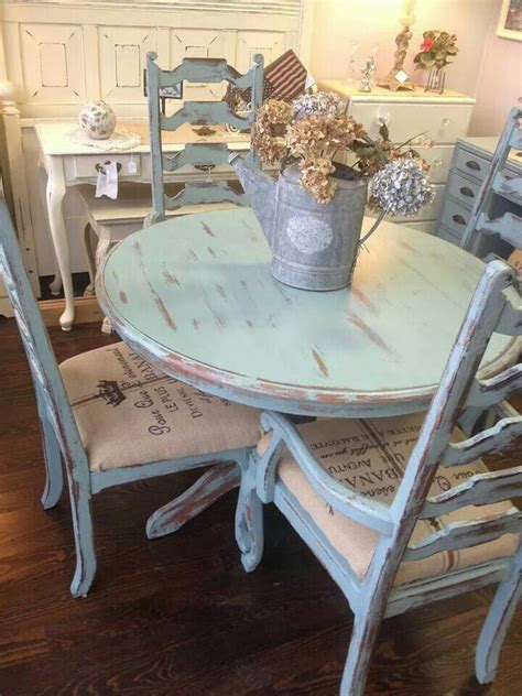 blue dining room table distressed pale blue shabby table and chairs forgotten